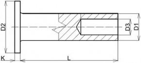 Poloduté rozklepávací nýty DIN 7338B Měď
