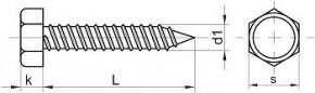 Vruty do plechu se šestihrannou hlavou DIN 7976 Ocel Zinek bílý
