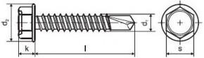 Vruty do kovu s předvrtáním DIN 7504K Ocel Zinek bílý