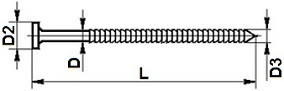 Konvexní hřebíky Ocel Zinek bílý