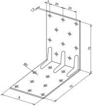 Konstrukční úhelníky výška 70mm