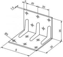 Konstrukční úhelníky výška 35mm