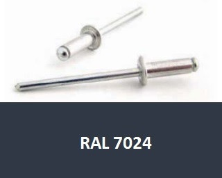 Barevné trhací nýty RAL 7024 Hliník/Ocel