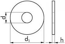Podložky pod nýty DIN 9021 Mosaz