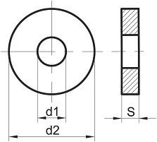 Podložky pro ocelové konstrukce DIN 7989 Ocel Zinek bílý