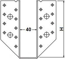 Třmeny šířka 40mm