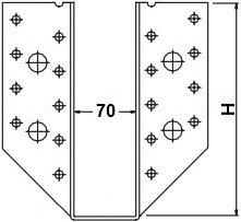 Třmeny šířka 70mm