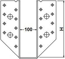 Třmeny šířka 100mm