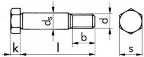Lícované šrouby se šestihrannou hlavou DIN 609 Ocel 8.8 Bez povrchové úpravy