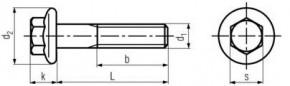 Límcové šrouby se šestihrannou hlavou DIN 6921 Ocel 8.8 Zinek bílý