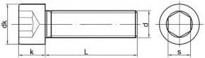 Imbusové šrouby s celým závitem DIN 912 Ocel 8.8 Zinek bílý