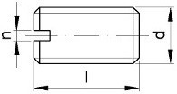 Stavěcí šrouby DIN 551 Ocel Bez povrchové úpravy