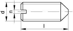 Stavěcí šrouby DIN 553 Ocel Zinek bílý