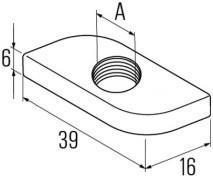 Matice HG 38 pro montážní lišty