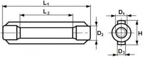 Matice napínače na lano DIN 1480 Ocel Zinek bílý
