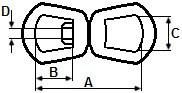 Otočná oka G-402 Ocel Žárový zinek