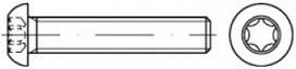 Šrouby s půlkulatou hlavou Torx ISO 7380 Ocel 10.9 Zinek bílý