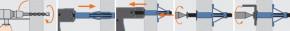 Kotvy do dutých a deskových materiálů MHD-S Ocel Zinek bílý