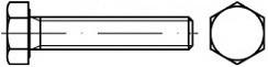 Šrouby se šestihrannou hlavou DIN 933 Polyamid