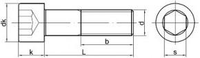 Imbusové šrouby s jemným závitem DIN 912 Ocel 8.8 Bez povrchové úpravy
