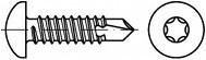 Vruty do kovu s předvrtáním Torx DIN 7504N Ocel Zinek bílý