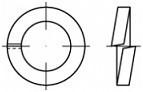 Pérové podložky s čtvercovým průřezem DIN 7980 Ocel Žlutý zinek