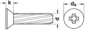 Zápustné závitořezné šrouby do plechu PH DIN 7516D Ocel Zinek bílý