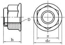 Pojistné límcové matice DIN 6926 Ocel 8 Zinek bílý