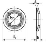 Pojistné podložky RIP-LOCK Ocel Dacromet