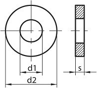 Kruhové podložky DIN 7349 Ocel Zinek bílý