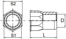 Částečně šestihranné nýtovací matice, otevřené s redukovanou hlavou pro palcové otvory Ocel Zinek bílý