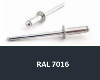 Barevné trhací nýty RAL 7016 Hliník/Ocel