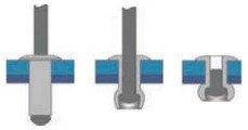 Barevné trhací nýty RAL 9002 Hliník/Ocel