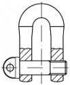 Zámky řetězu DIN 82101D Ocel Zinek bílý