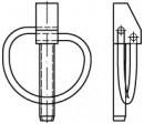 Zákolníky DIN 11023 Ocel Zinek bílý