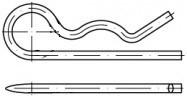 Jednoduché pružinové závlačky Ocel DIN 11024 Zinek bílý