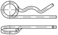 Zdvojené pružinové závlačky DIN 11024 Ocel Zinek bílý